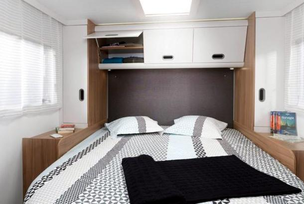 Luxury double bed in new motorhome
